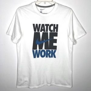 Nike Watch Me Work T-shirt White Boys Large